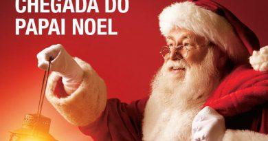 Chegada do Papai Noel e início da abertura do comércio à noite será dia 9 de dezembro