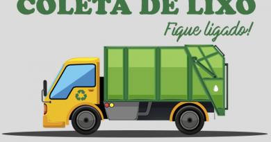 Coleta de lixo na região central terá horário alterado entre os dias 9 e 24