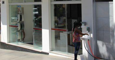 Prevenção: Construmax instala lavatório para possibilitar e incentivar a lavagem das mãos