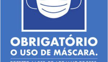 Estabelecimentos comerciais devem fixar cartaz sobre a obrigatoriedade do uso de máscara